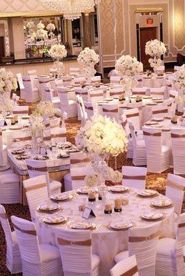 Purple White Gold New Jersey Celebration Gold Wedding