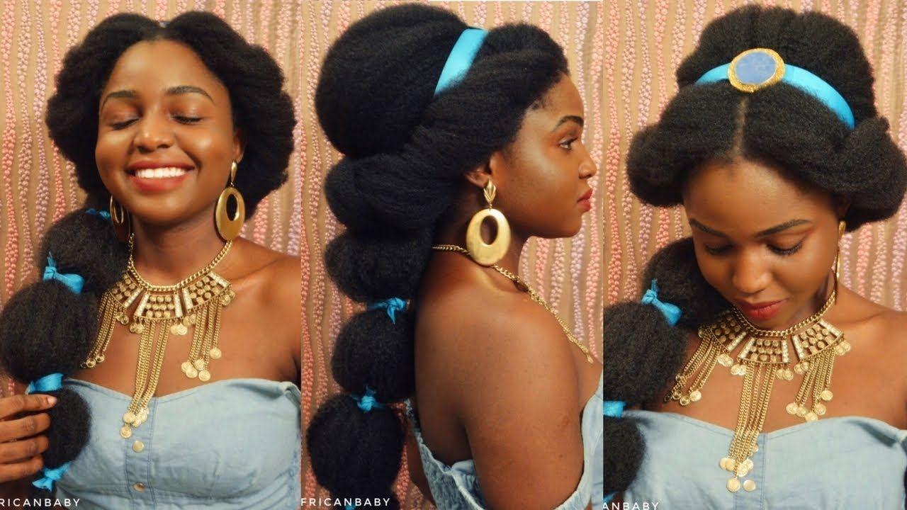 Princess Jasmine Inspired Halloween Look On Natural Hair Natural Hair Styles Princess Jasmine Hair Jasmine Hair