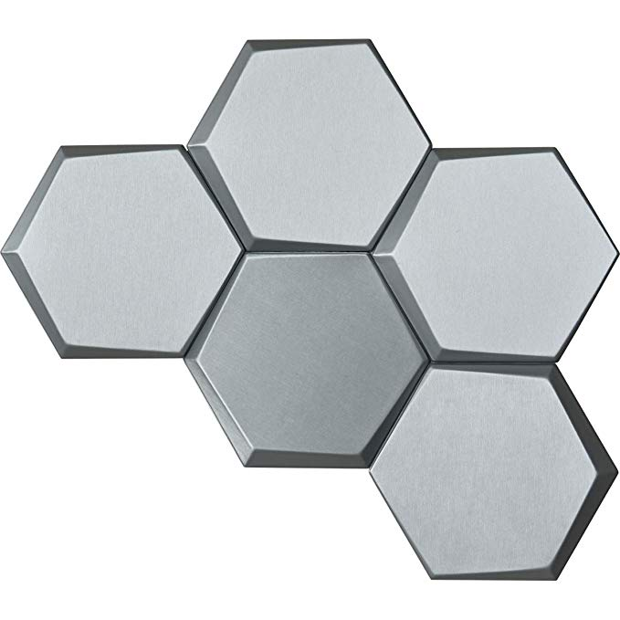 Amazon Com Art3d 20 Pieces Decorative 3d Wall Panels Faux Leather Tile Silk Silver Hexagon Home I 3d Wall Panels Wall Panels Decorative Wall Tiles