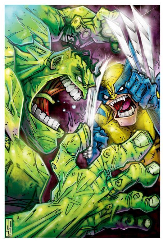 #Hulk #Animated #Fan #Art. (Hulk vs Wolverine) By: ScottShoemaker. ÅWESOMENESS!!!™ ÅÅÅ+