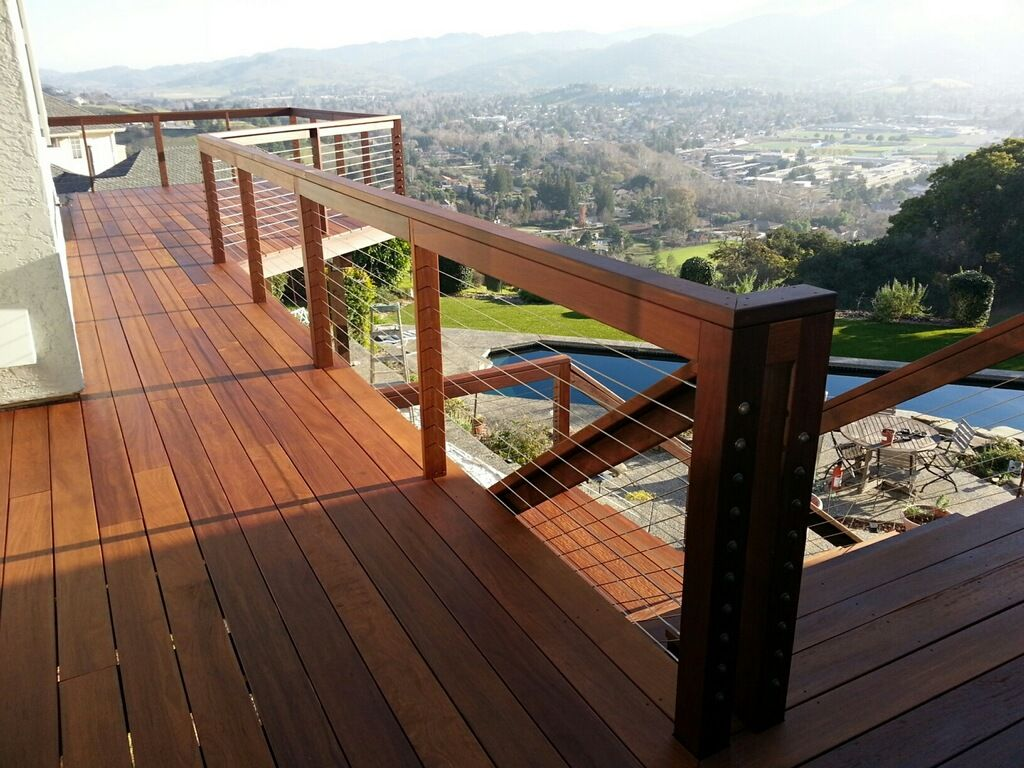 Cumaru Wood Stained With Armstrong Clark Amber Exterior Wood Stain