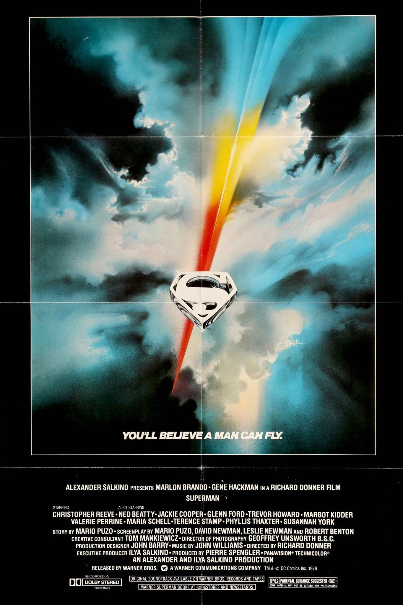 superman the movie 1978 vintage movie poster 27quotx 41