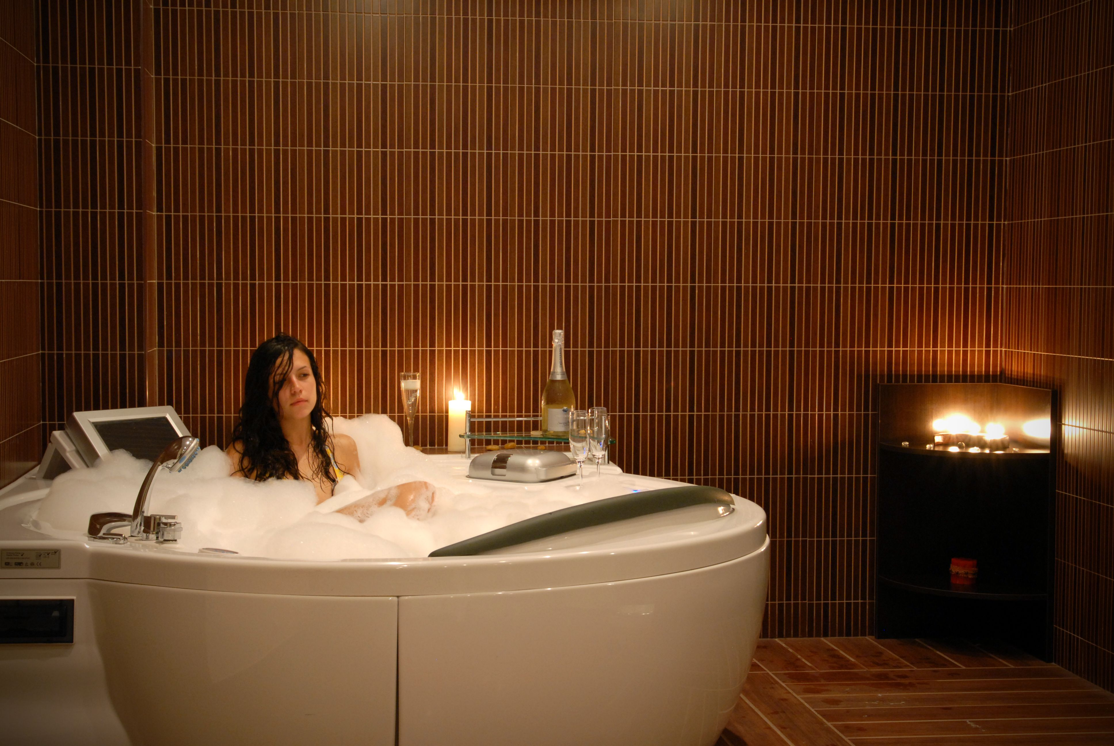 the jacuzzi in the VIP room the
