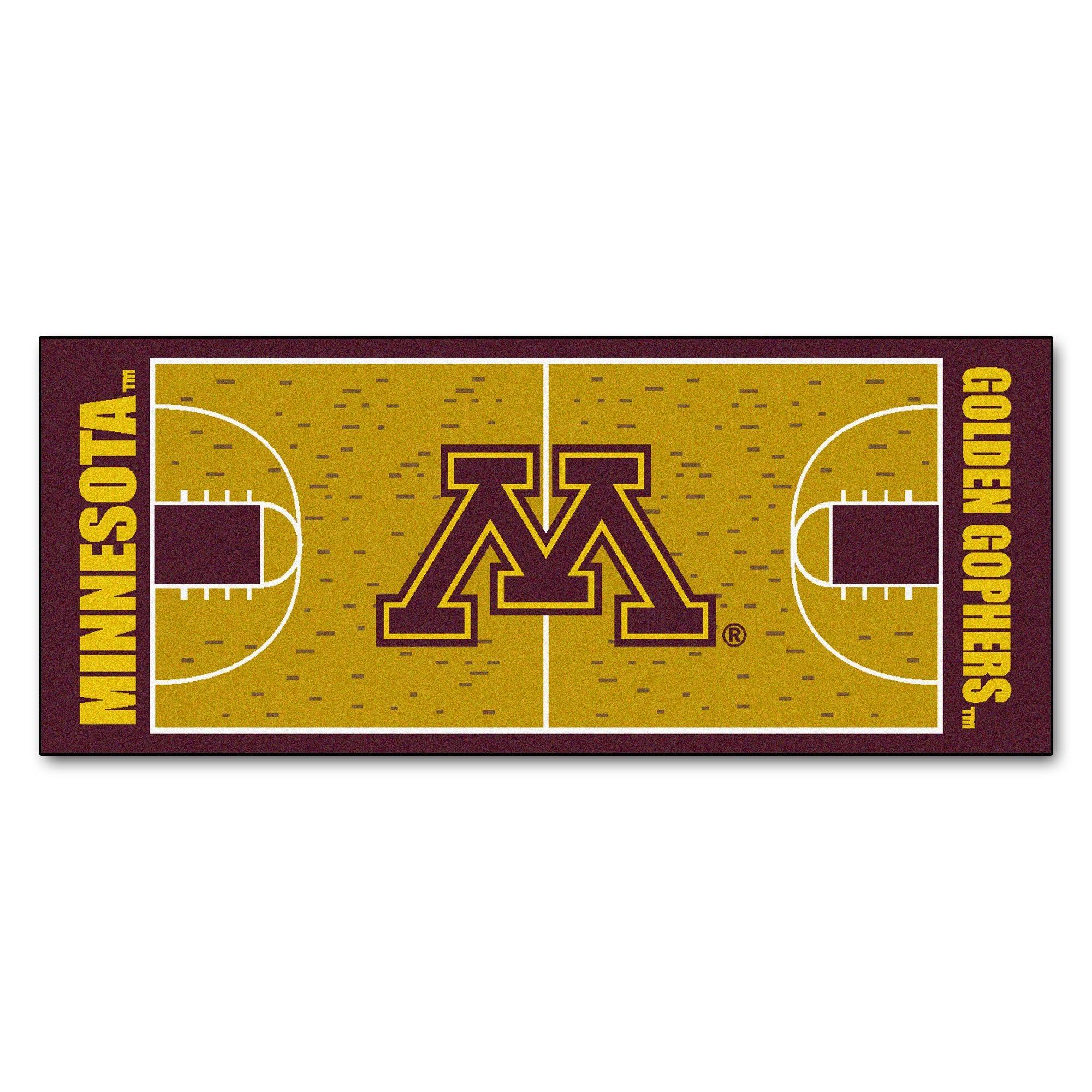 Fanmats Machine-made University of Minnesota Nylon Basketball Court Runner