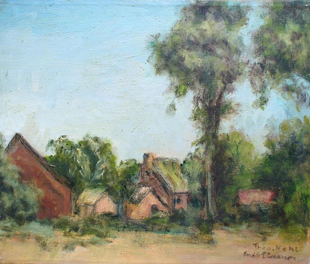 Gemälde Landschaft ölbild Gegenständliche Malerei Dorfansicht