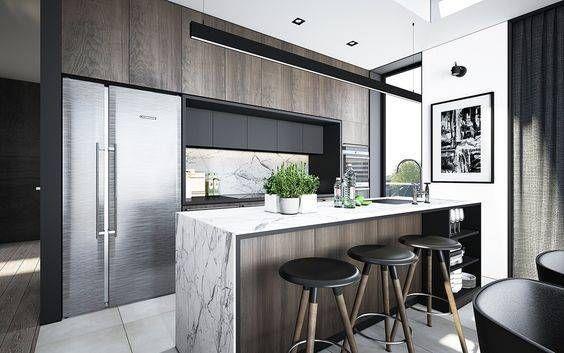 decoración de cocinas elegantes sencillas cocina Pinterest - cocinas elegantes