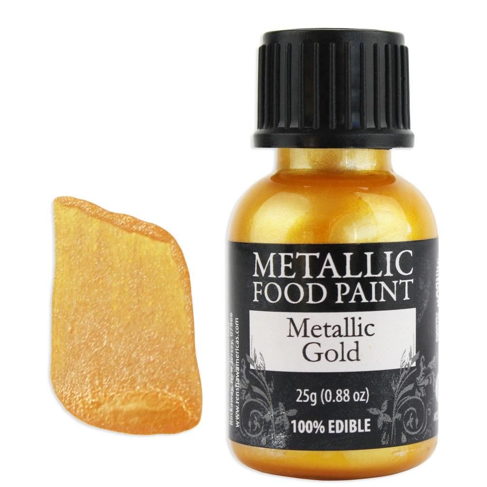 Gold metallic edible paint rd edible paint edible gold