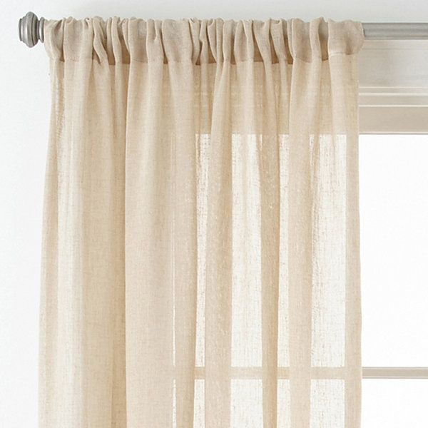 Bayview Sheer Rod Pocket Curtain Panel With Images Rod Pocket