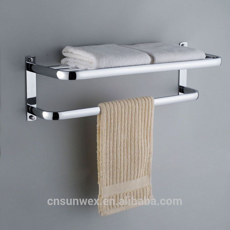 Sus 304 Stainless Steel Towel Rack Bathroom Towel Shelf Hotel Type