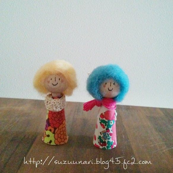 ドイツ製の木の指人形をおめかししています。コチラは歌うたいの姉妹、2人セットです。我が家では娘のピアノの回数カウントに使っていますが(笑)、玄関に飾ったり、デ... ハンドメイド、手作り、手仕事品の通販・販売・購入ならCreema。