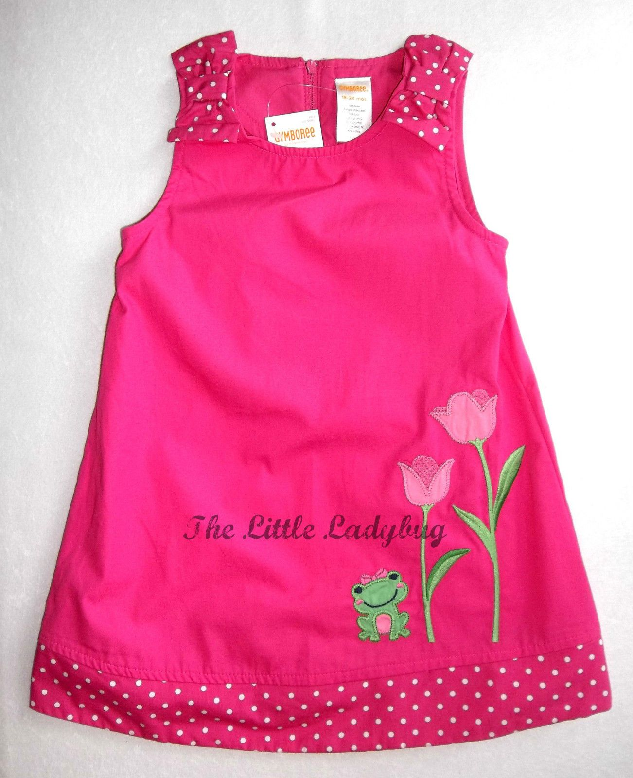 NWT Baby Lulu floral ruffle dress 100/% cotton 2T or 3T
