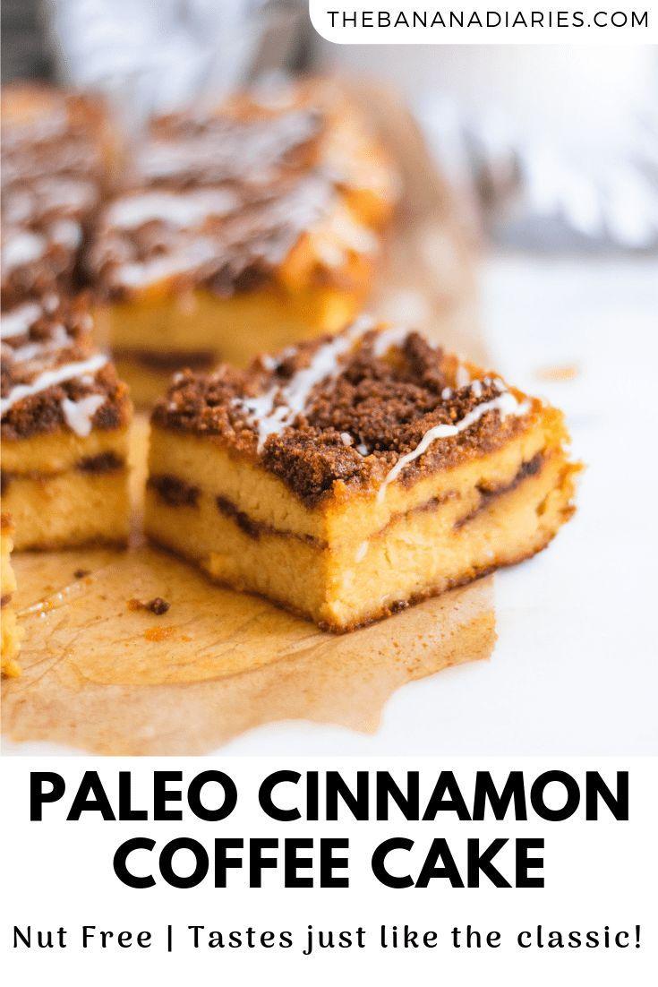 Classic Cinnamon Coffee Cake (Paleo, GF, Low Sugar) | The Banana Diaries