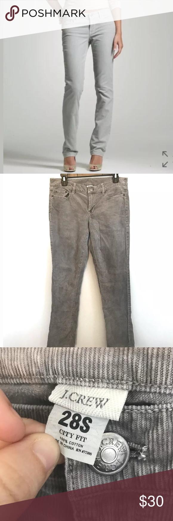 0bdbd4b27e9e J Crew Size 28 Short Vintage Skinny Corduroy Pant J. Crew Size 28 Short  Gray Vintage Matchstick Skinny Leg Corduroy City Fit Style 28364  Approximate ...