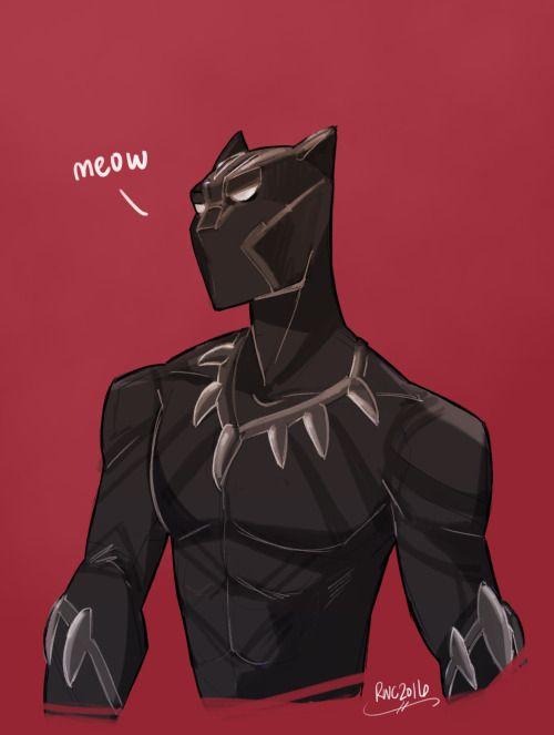 Cartoon Black Panther Drawing : cartoon, black, panther, drawing