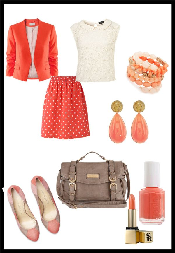 """""""coral"""" by southernbelle785 on Polyvore"""