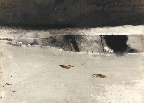 Andrew Wyeth - Ice Pool, 1969.