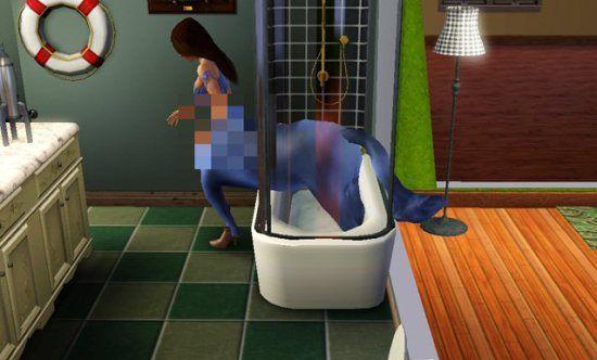 Sims 4 Jane Centaur Glitch Horse Shower Bath | funny | Sims