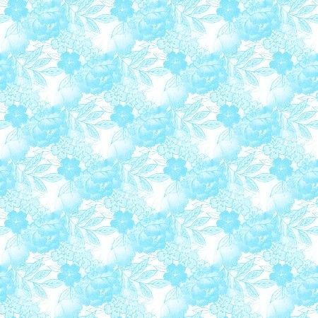 Light Blue And White Floral Pattern Background Image Wallpaper Or