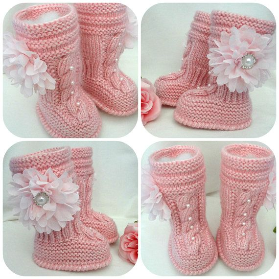 Pin Ugg Boots Crochet Baby White Booties Furry Booties