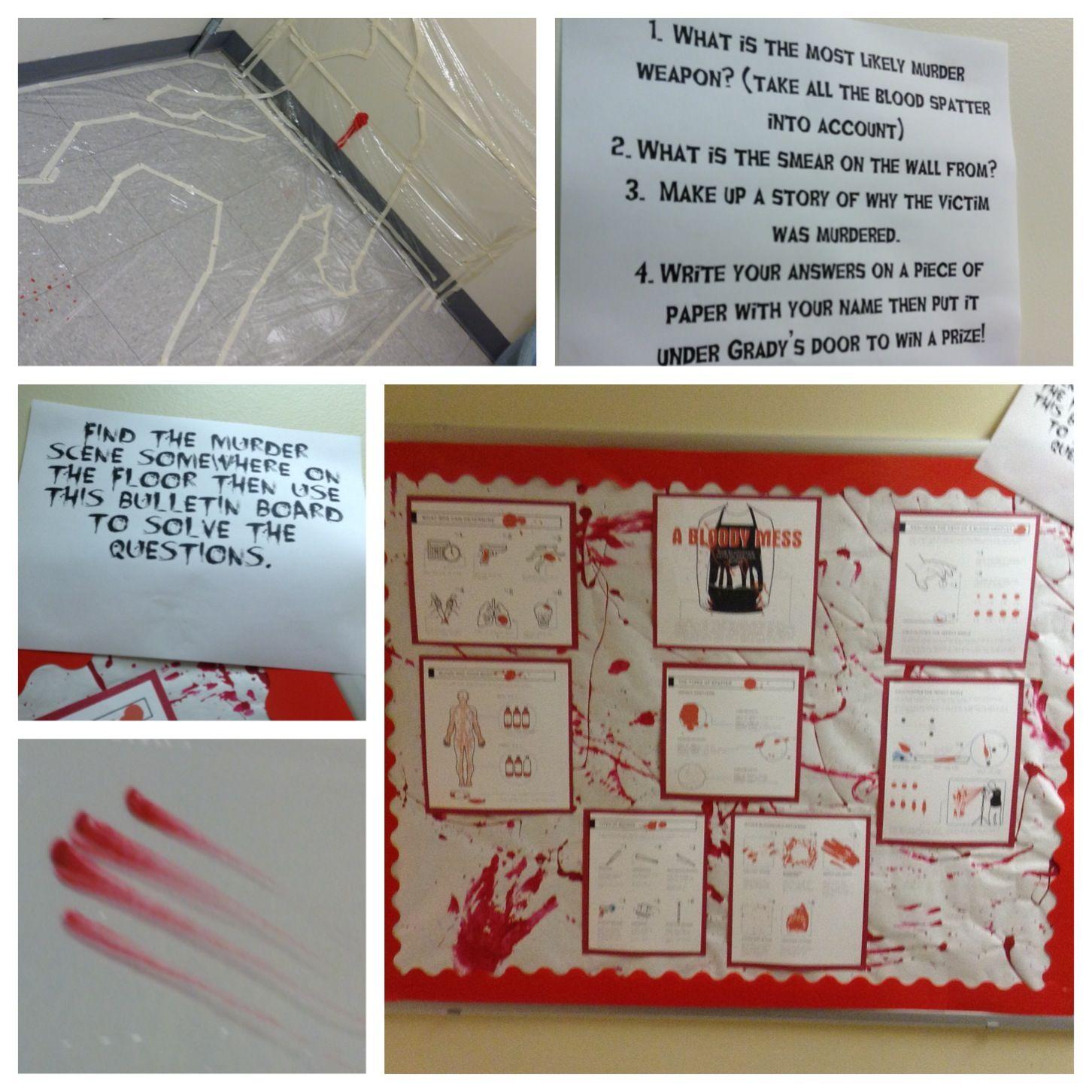 Passive Program - Bulletin Board Blood Pattern