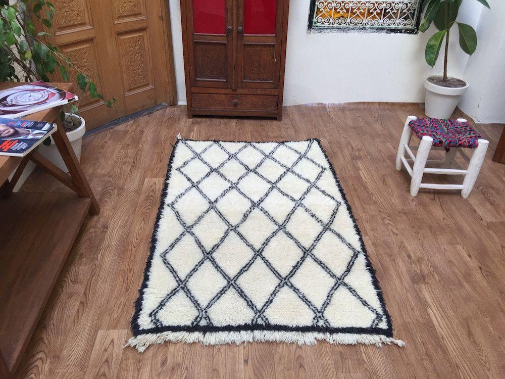 oriental carpets KIDS RUG Soft Rug Vintage Rug TEPPICH Tapis 3x5 All Wool Handmade Beni Ourain Moroccan Vintage rug Kilim Berber