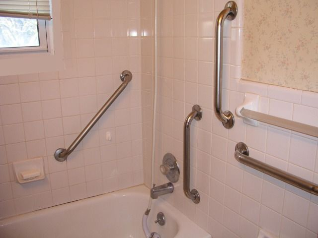 5 grab bars in one bathroom! Grab Bars Pinterest Grab bars