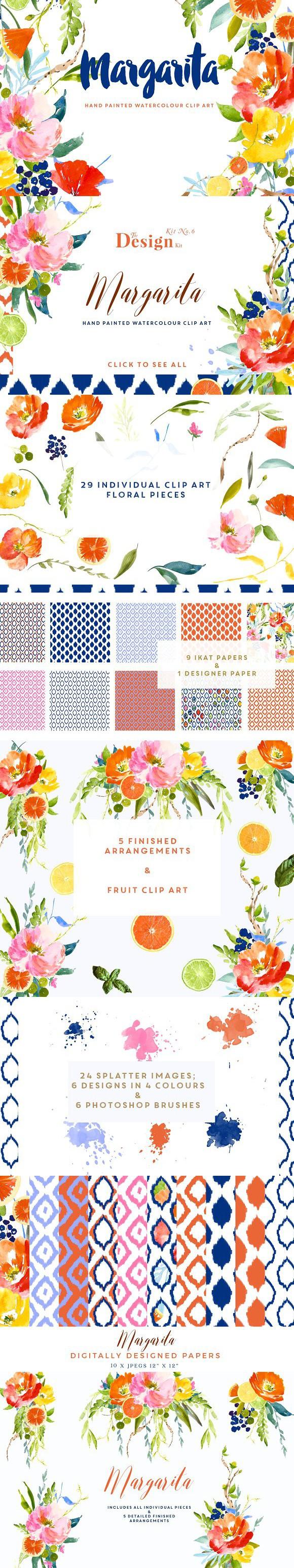 The Design Kit - Margarita. Watercolor Flowers