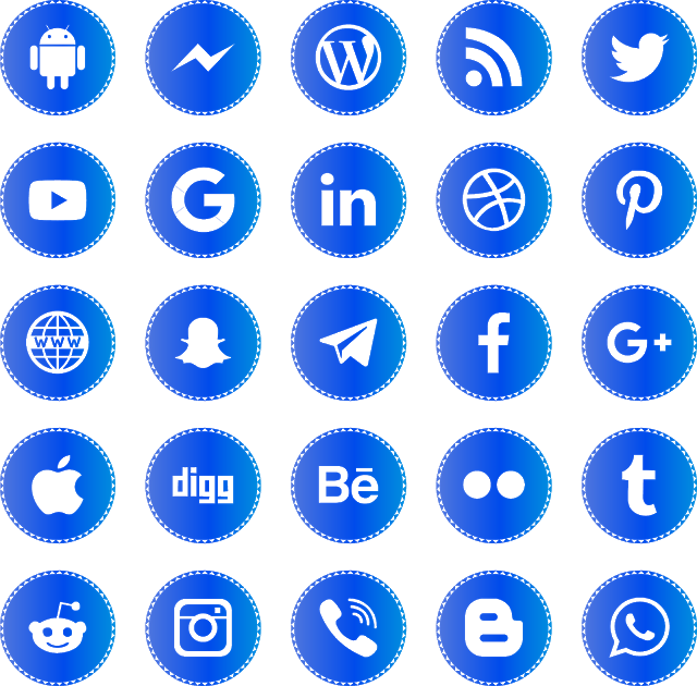 Download Icons Social Media 2019 Svg Eps Png Psd Ai Free With Images Social Media Tumblr Stickers Icon