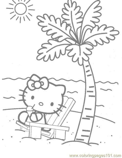 Hello Kitty Printable Coloring Pages Printable Coloring Page Hello Kitty At The Beac Hello Kitty Colouring Pages Hello Kitty Coloring Hello Kitty Printables
