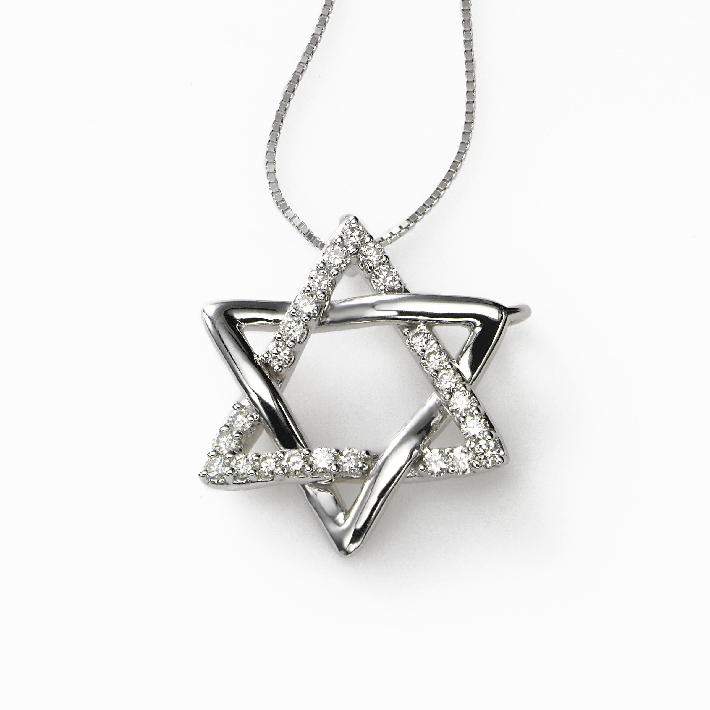 Stunning Diamond Star of David, 14K White Gold