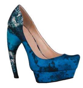 Christian Siriano For Payless Blue Zapatos Impresionantes Peines Del Pelo De