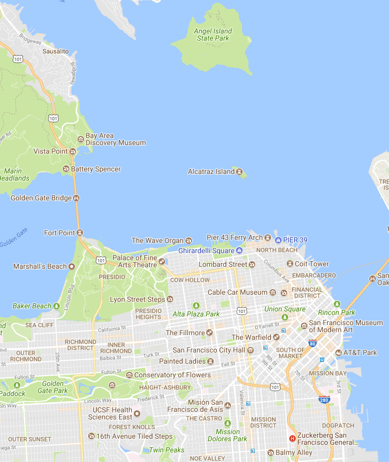 30 Things to Do in San Francisco – Google My Maps