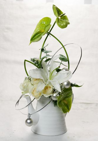 Silk Flower Christmas Arrangements Centerpieces