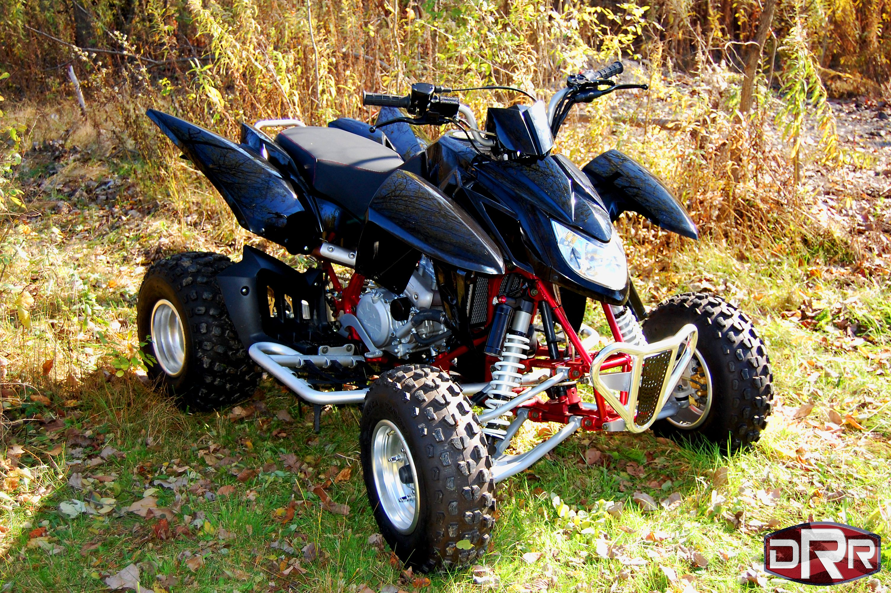 Drr 450cc Sport Adult Atv Racing Four Wheeler Angled View To
