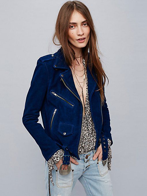 Leather Jackets Suede Jackets Free People Blue Suede Jacket Blue Suede Moto Jacket Suede Jacket Outfit