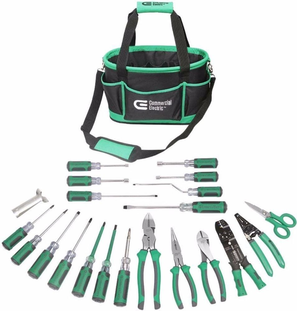 Electrical Tool Set 22-piece Heavy Duty Durable Comfort with Tool Bag  Organizer #toolset #electrical #tools #toolorganizer #electricaltoolset ...