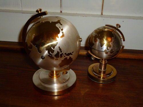 Terrestrial Globes Clock  Lighter Set