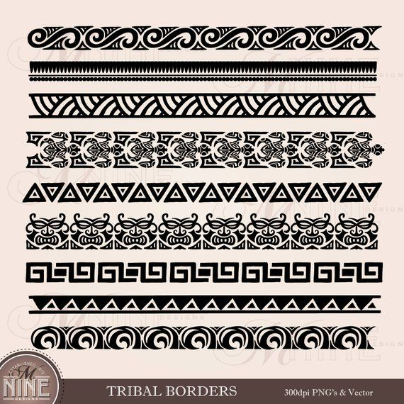 Tribal Borders Clipart Polynesian Clipart Borders Moana Clipart Tribal Tattoo Clip Art Borders