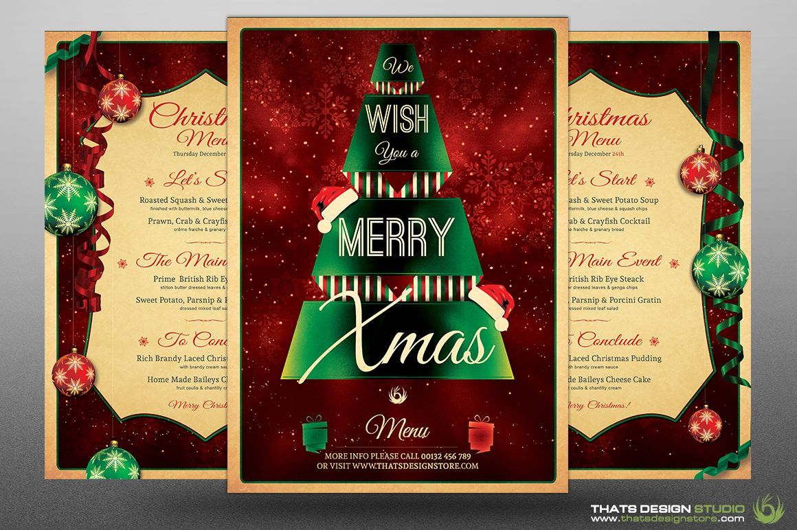 Christmas Menu Template V7 Products Christmas And Menu Template