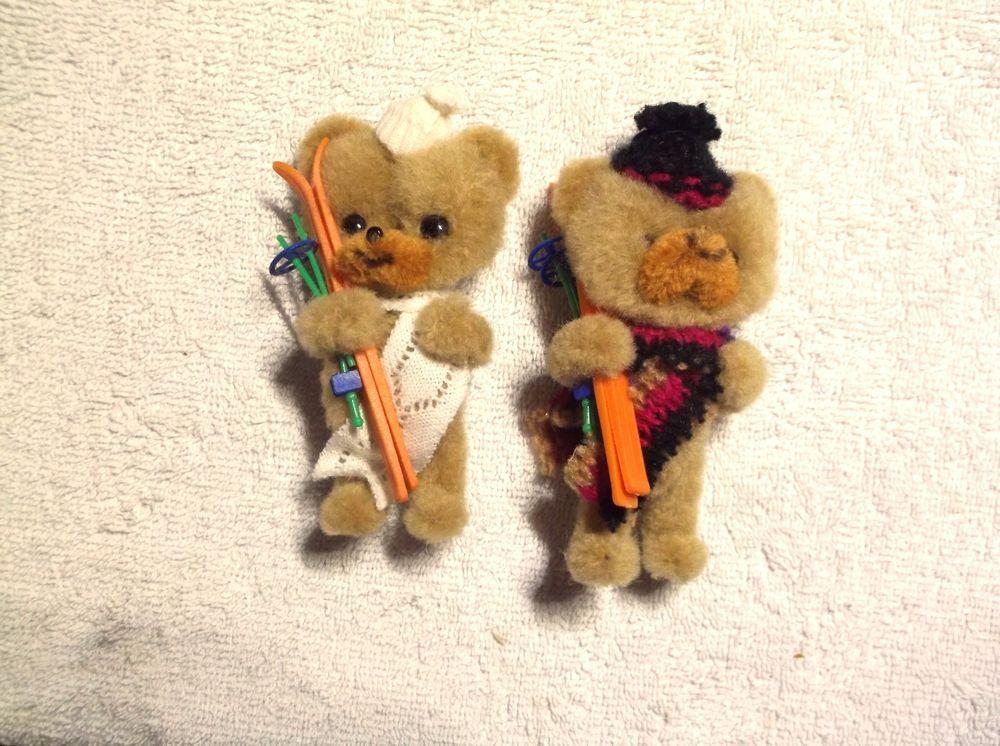 "2 Mary Meyer 4"" bear Skiers  #MaryMeyer"