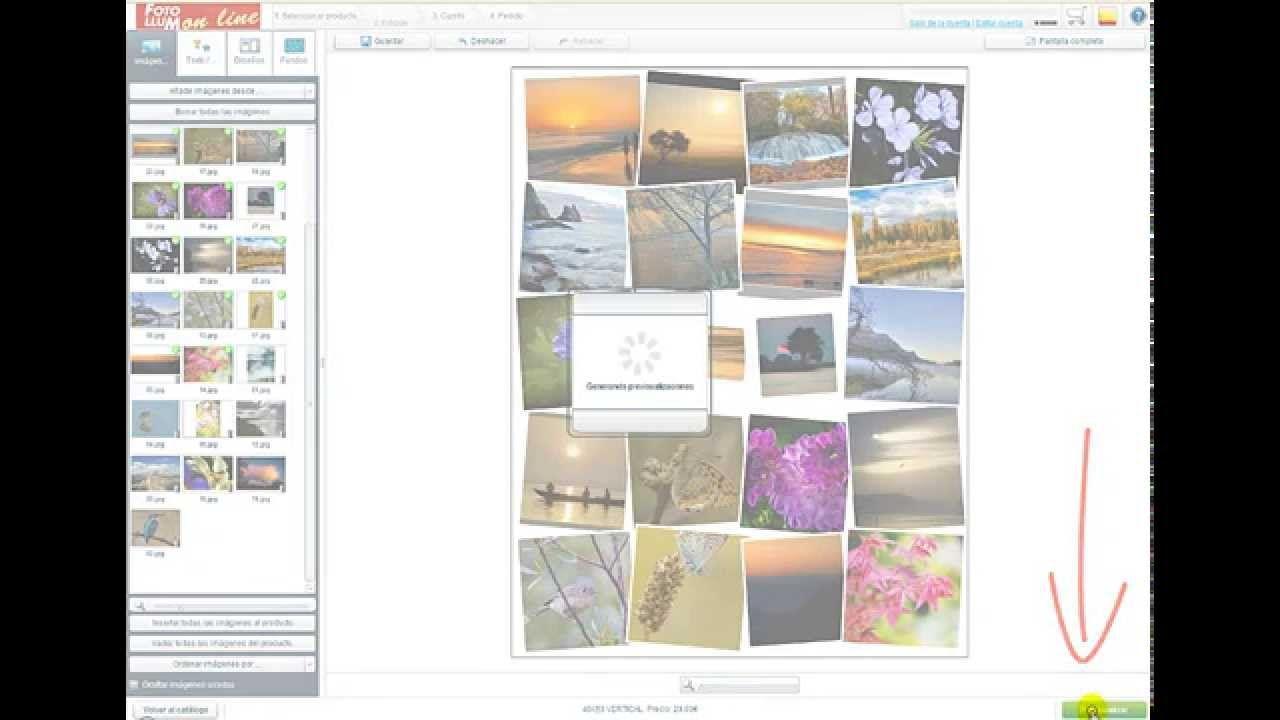 Cómo hacer un collage en foto, tela o en foam con la aplicación on line de Foto Llum.
