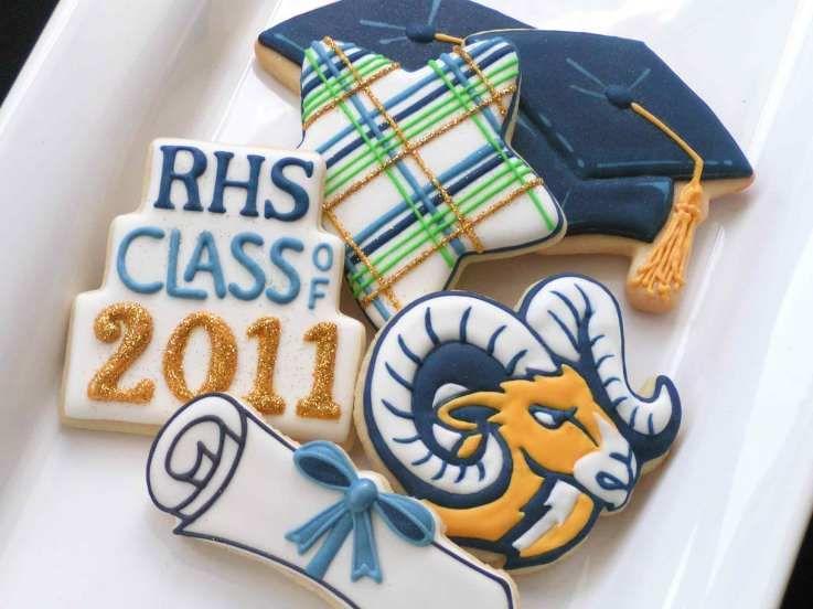 Graduation party (with school mascot logo)