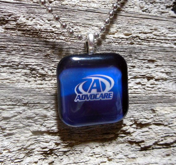 Advocare Blue and Black Glass Dome Tile by LifeExpressionbyLucy, $9.45