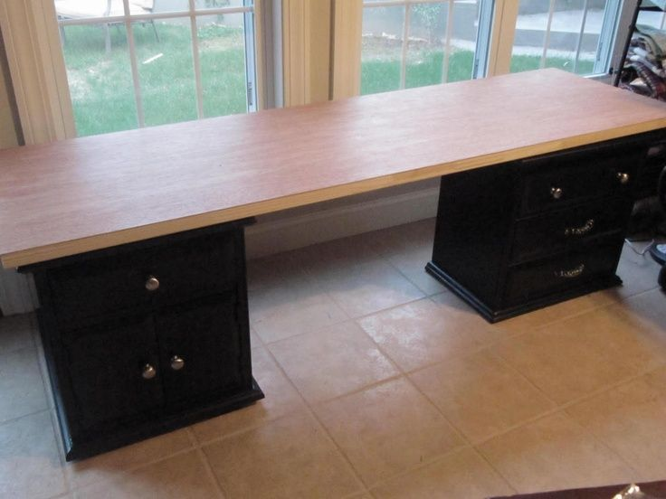 Elegant Sewing Desk From Hollow Core Door. I Have The Side Tables In Garage And  Doors