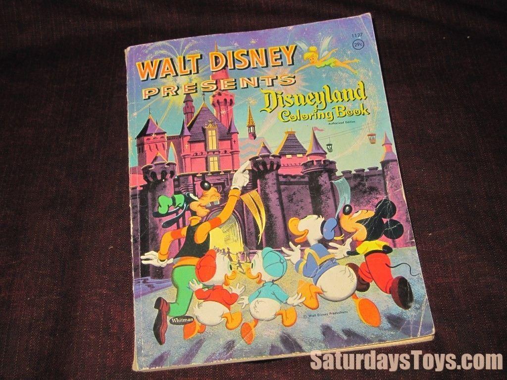 1958 Walt Disney Presents Disneyland Coloring Book Classic Images Whitman