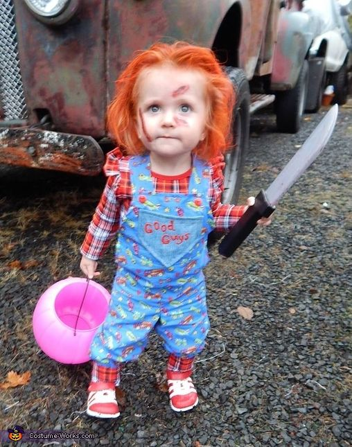 Chucky halloween costume contest at costume works chucky andrea paisley jean is wearing her homemade by my talented mother chucky costume solutioingenieria Choice Image