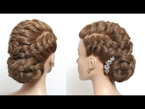 Braided Hairstyle For Long Hair Tutorial Youtube Bun Hairstyles For Long Hair Braids For Long Hair Long Hair Tutorial