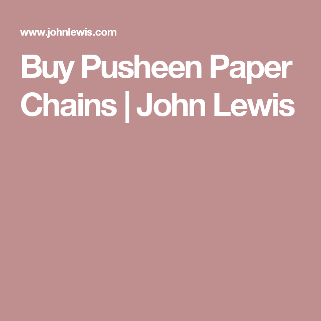 Buy Pusheen Paper Chains | John Lewis