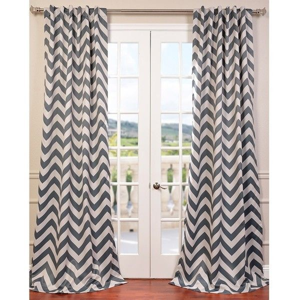 EFF Fez Grey Tan Blackout Curtain Panel 52 Liked On Polyvore Featuring