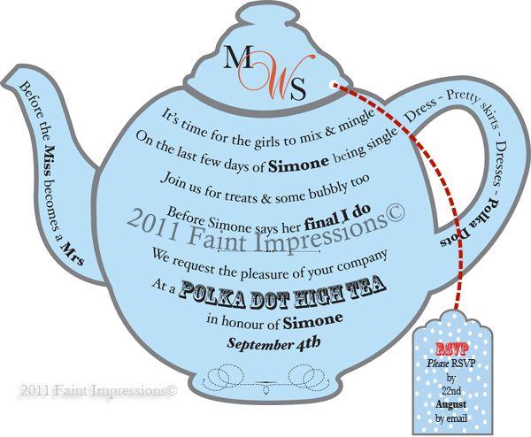 free high tea invitations